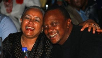 6 Photos Of President Uhuru Kenyatta and Margret Kenyatta Kissing Publicly