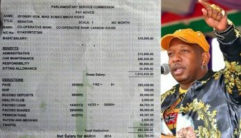 Here Is Mike Sonko's Payslip Just in case you've never seen it