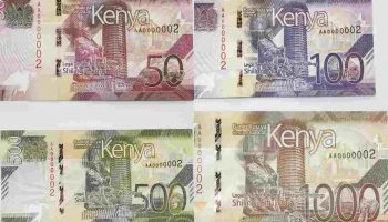 Photos of New Generation Kenyan Currency Notes Ksh 50 to 1000