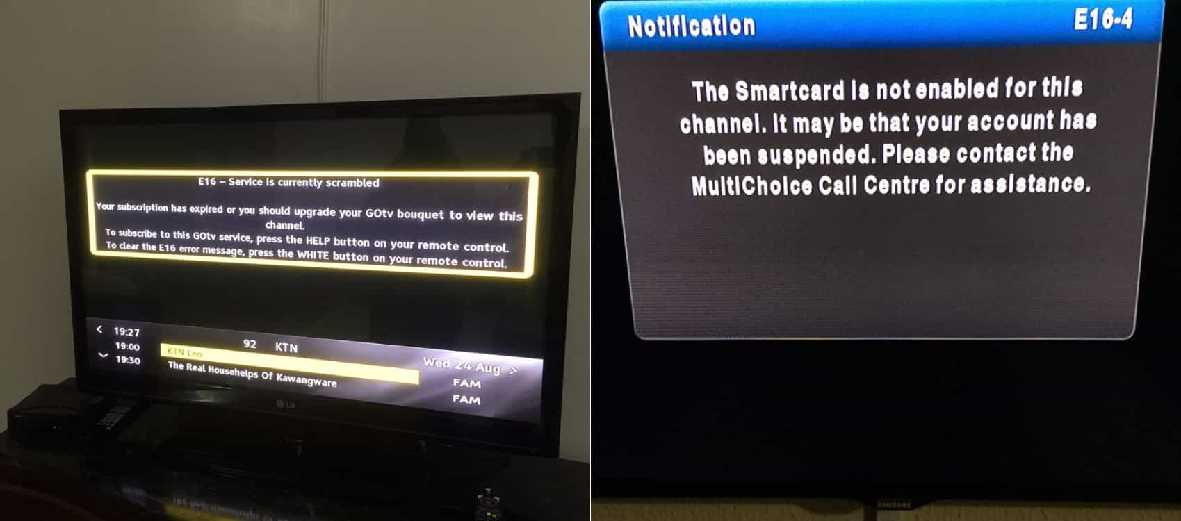 How to Clear e16 Error on DSTV and GOtv in Kenya