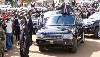 Number of Body Guards assigned to President Kenyatta , Ruto and Raila Odinga