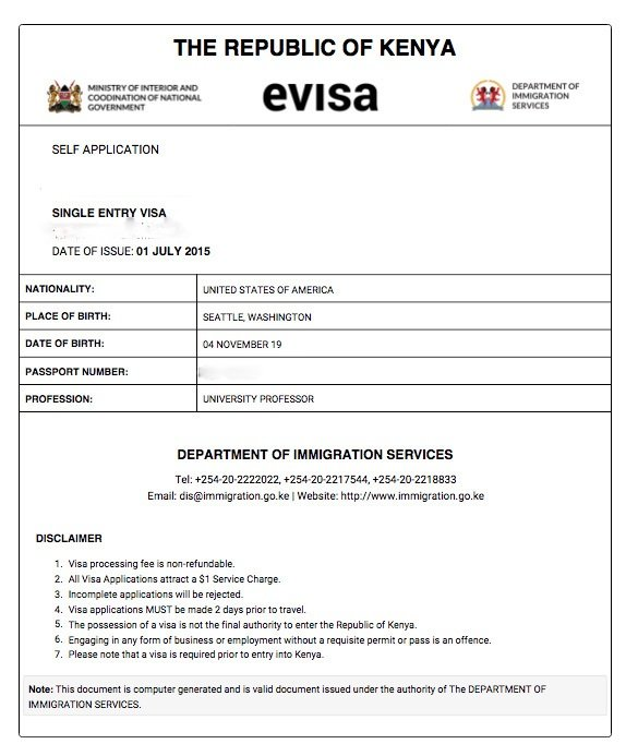 How To Apply For A Kenyan EVisa 2018