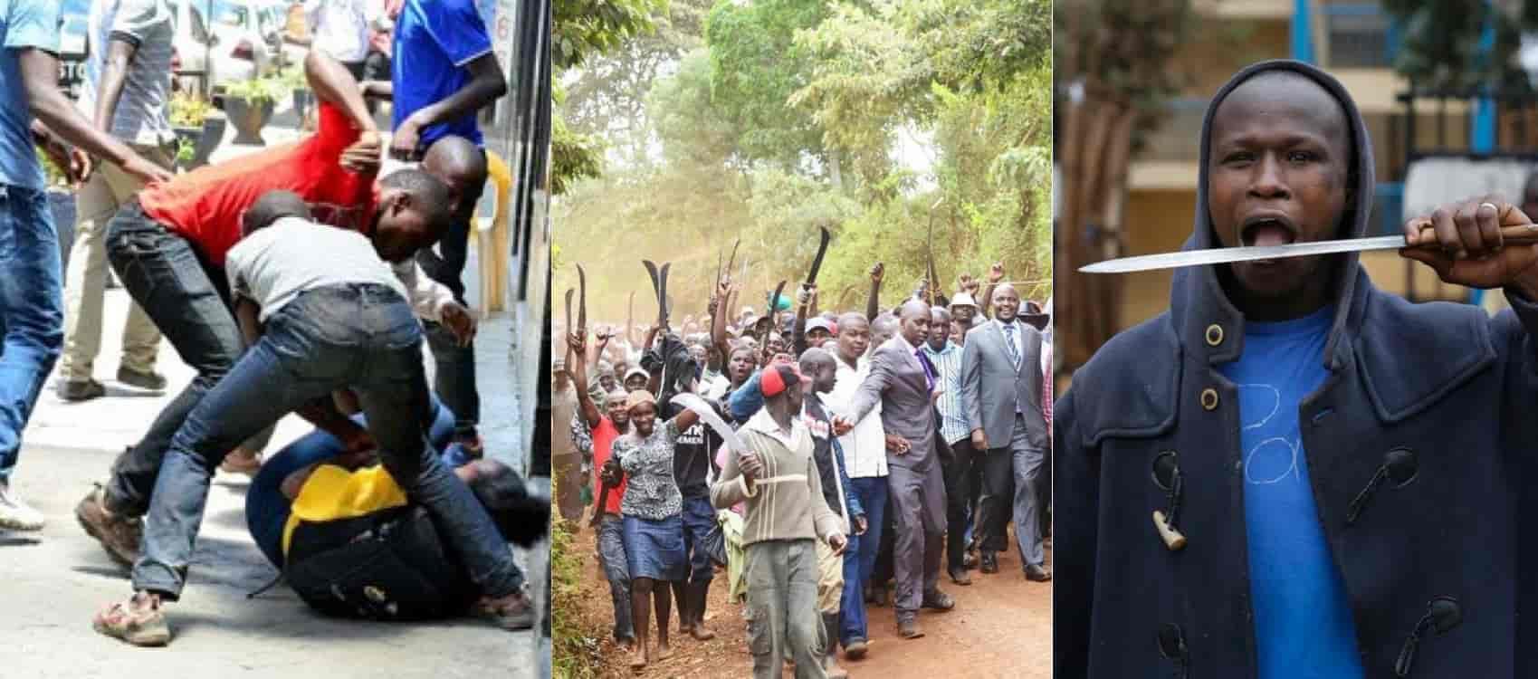 mungiki gang knives and violence