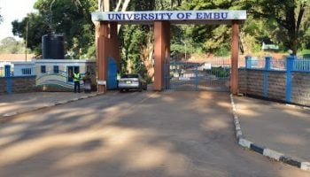 List Of Accredited Courses offered at Embu University