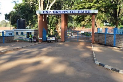 List Of Accredited Courses offered at Embu University 2018