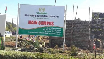 List Of Courses Offered at Dedan Kimathi University of Technology