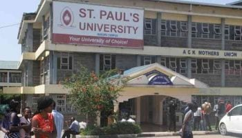 List Of Courses Offered at St. Paul's University