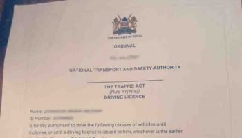 How To Apply For An Interim Driving License In Kenya