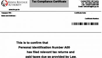 How To Apply For Tax Compliance Certificate In Kenya